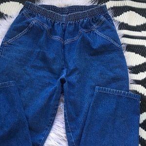 Vintage 1980s Mom jeans high waisted elastic waist